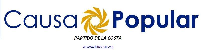 CAUSA POPULAR PARTIDO DE LA COSTA