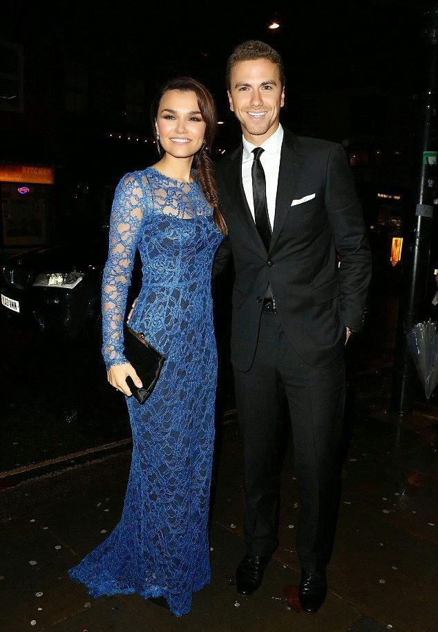 It's a big night for Samantha Barks, so we'll let give her full on assault of the eyes a pass. Somewhere, an Office Depot is missing a yellow highlighter, but the actress was hard to miss at the BAFTA Children's Award at London on Sunday, November 23, 2014.