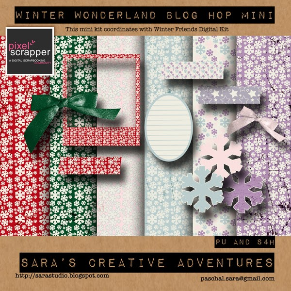 "Pixel Scrapper December 2013 Blog Train ""Winter Wonderland"""