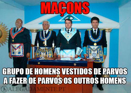 Imagens de maços – MAÇONARIA - Grupo de homens vestidos de parvos, a fazer de parvos os outros homens