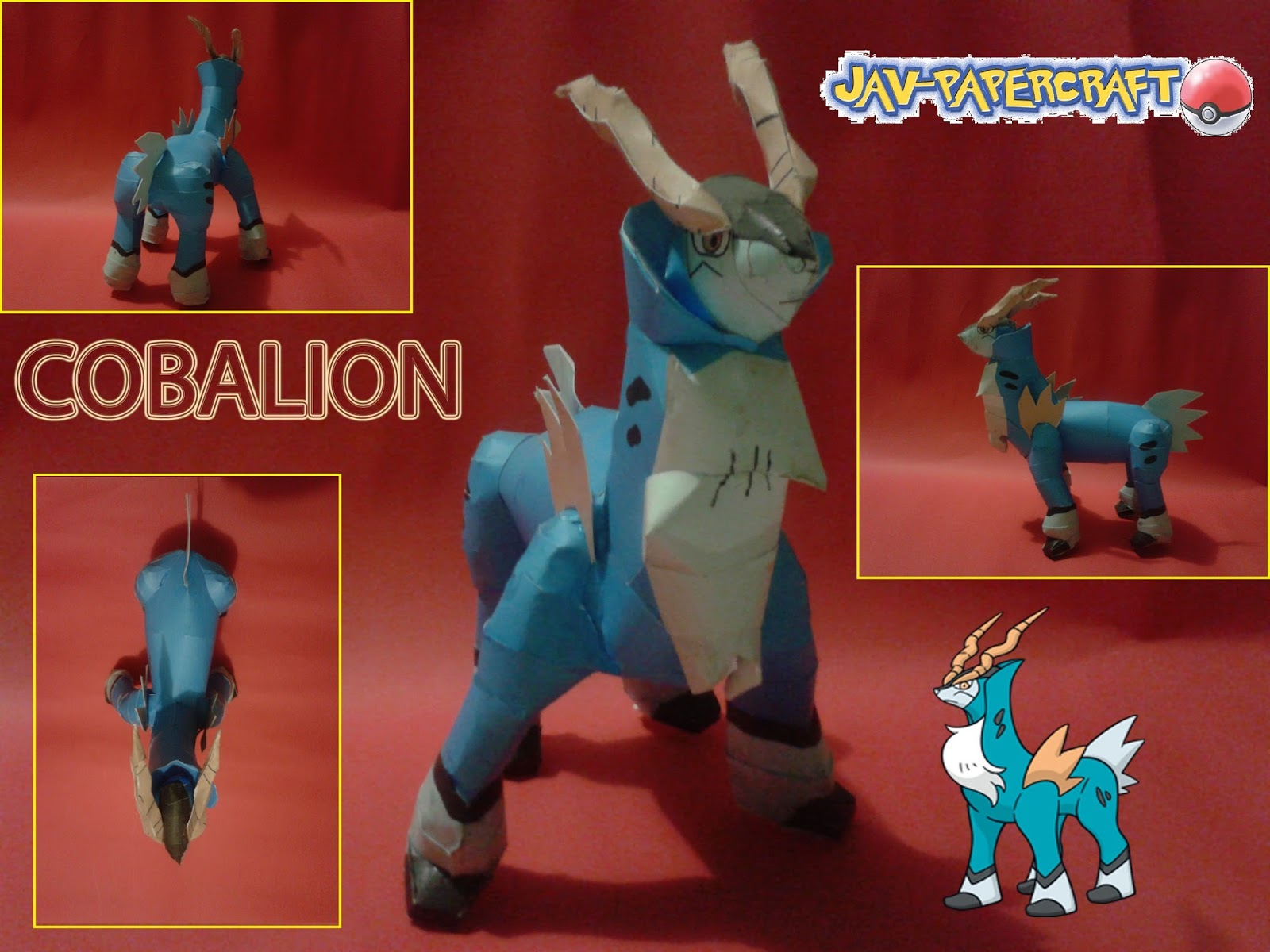 Pokemon Cobalion Paper Model v2