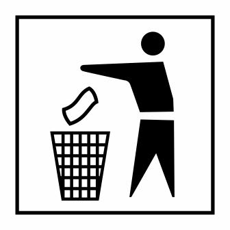 Logo Buang Sampah pada tempatnya