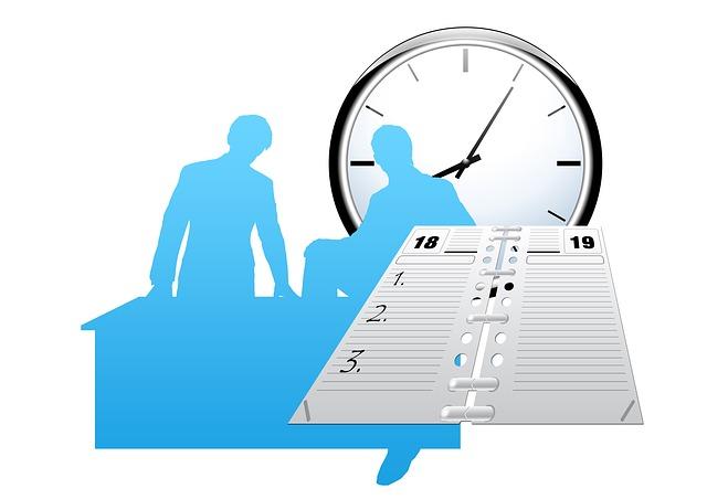 Agenda de trabajo horario en la oficina imagenes sin for Horario oficina de empleo