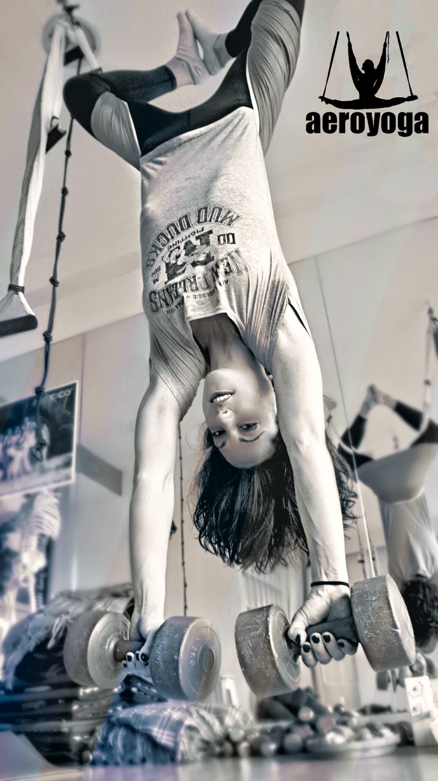 Aerial Yoga WEllness exercice