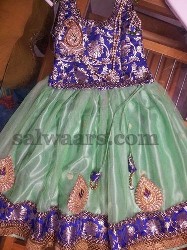 Party Wear Skirt with Paisley Motifs