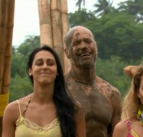 Mike Skupin covered in mud