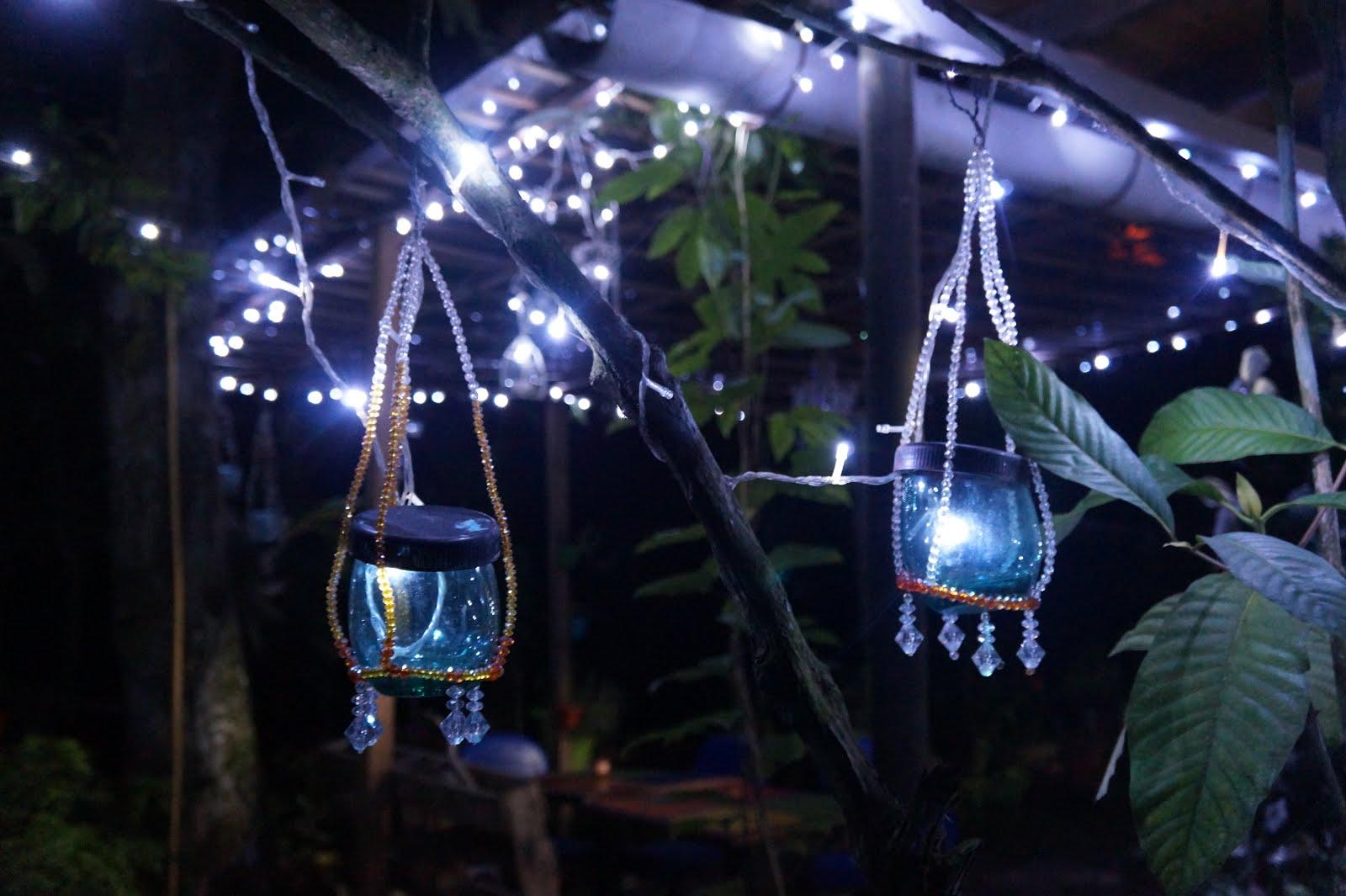 patio exterior prgola reciclaje luces iluminacin rstica iluminacion exterior