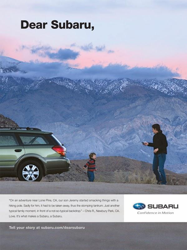 Rhetoric In Advertising Quot Dear Subaru Quot Ad Campaign