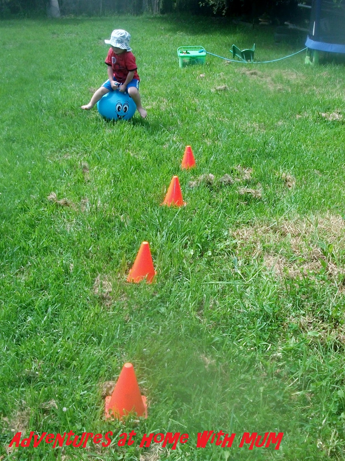 adventures at home with mum outdoor obstacle course
