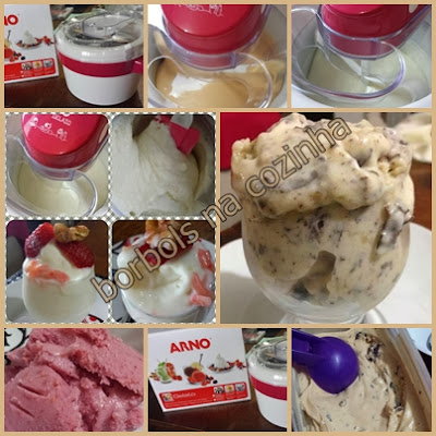 sorvetes ZERO açúcar e sorveteira