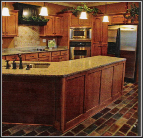 Red Brick Floor Kitchen : Brick laminate picture