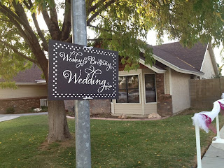 Beautiful Vinyl Wedding Decal Signs
