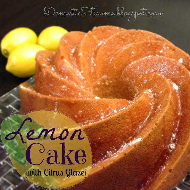 Lemon Bundt Cake with Citrus Glaze {Domestic Femme} #Cakes #Recipe # ...