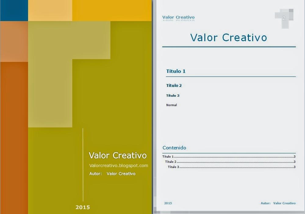Valor creativo plantillas word 2003 2007 2010 y 2013 for Arquitectura online gratis