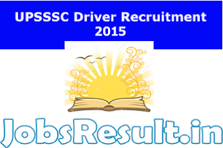 UPSSSC Driver Recruitment 2015