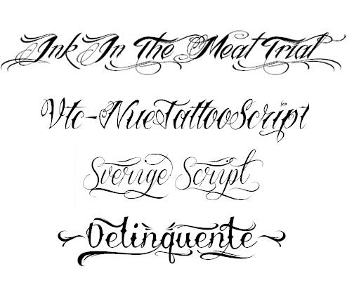 Tipografías para tatuajes | Distopia Mod