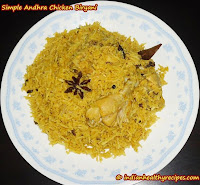 Andhra Chicken Biryani Recipe