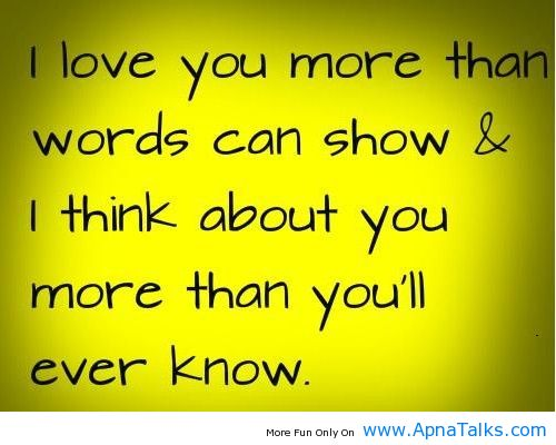 Funny Quotes Love You More Than : Love You More Than Quotes Funny. QuotesGram