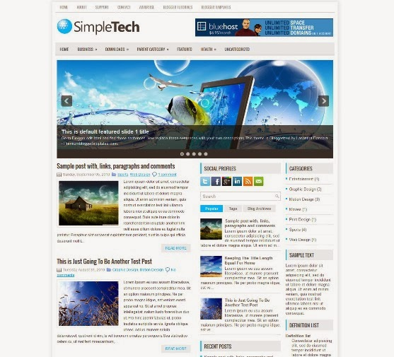 SimpleTech Blogger Template