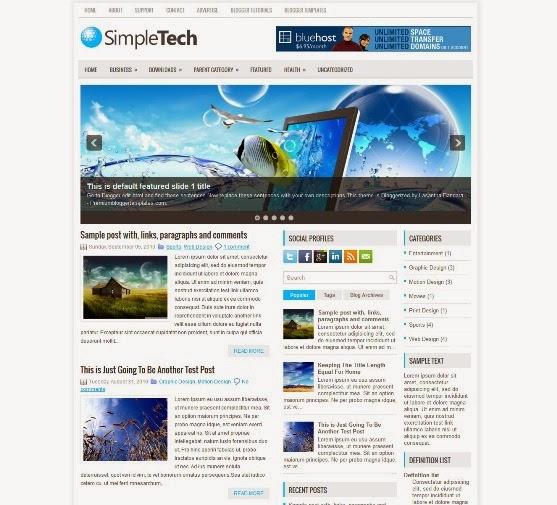 SimpleTech Blogger Template