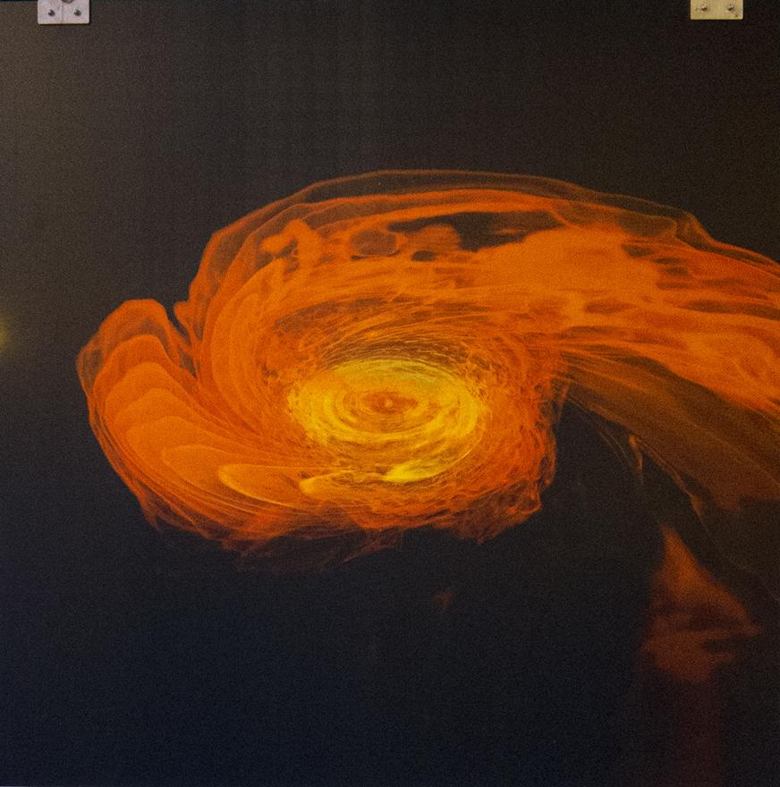 Colisión en el espacio, del Instituto Max Planck de Física Gravitatoria, Potsdam, Alemania.