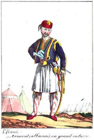 ARNAUT,Albanais en grand costume