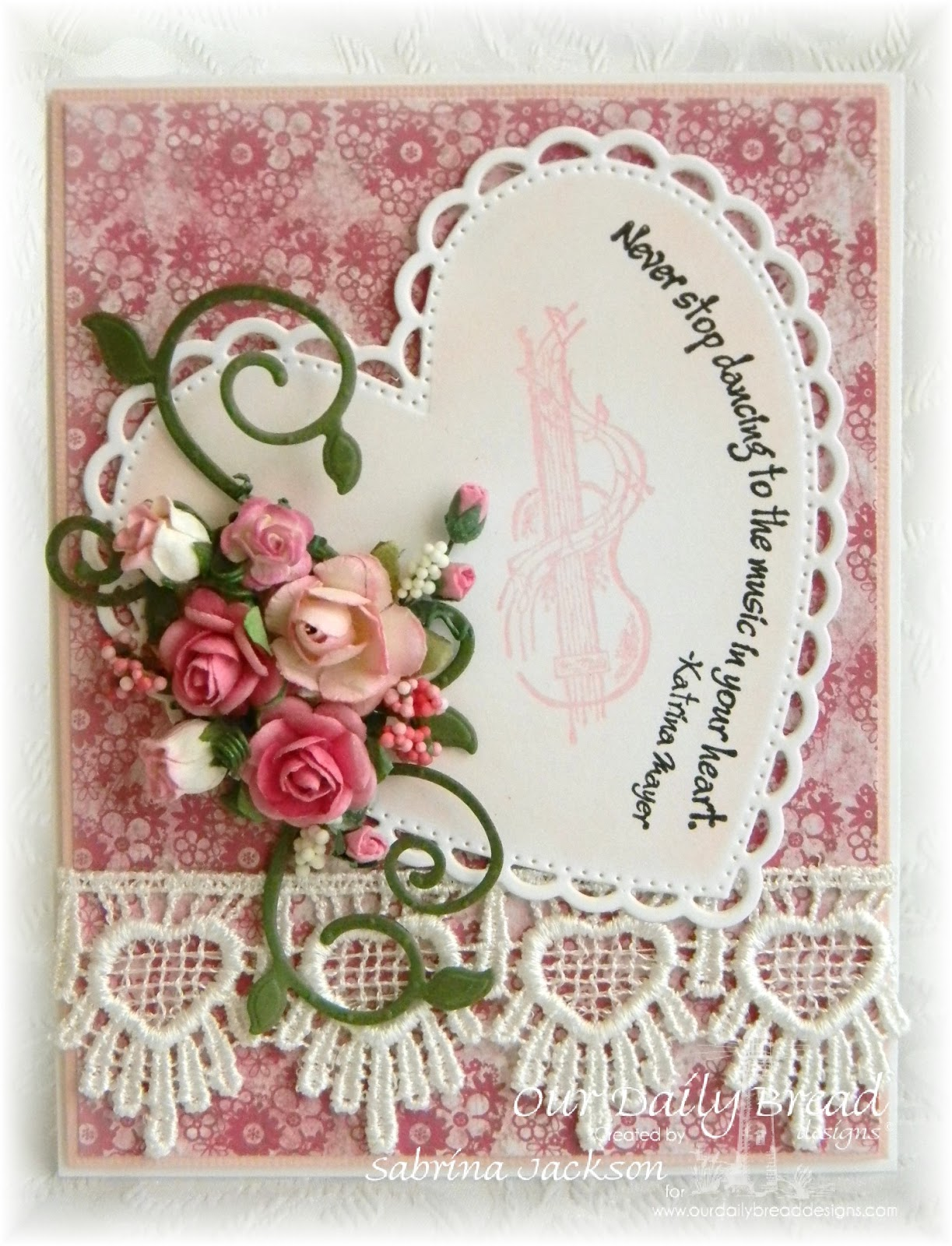 Stamps - Our Daily Bread Deisns Sing Thy Grace, Music Speaks, ODBD Custom Ornate Hearts Dies, ODBD Custom Fancy Foliage Dies, ODBD Heart and Soul Paper Collection