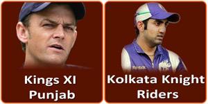 कोलकाता नाईट राईडर्स बनाम किंग्स एलेवन पंजाब 26 अप्रैल 2013 को है।