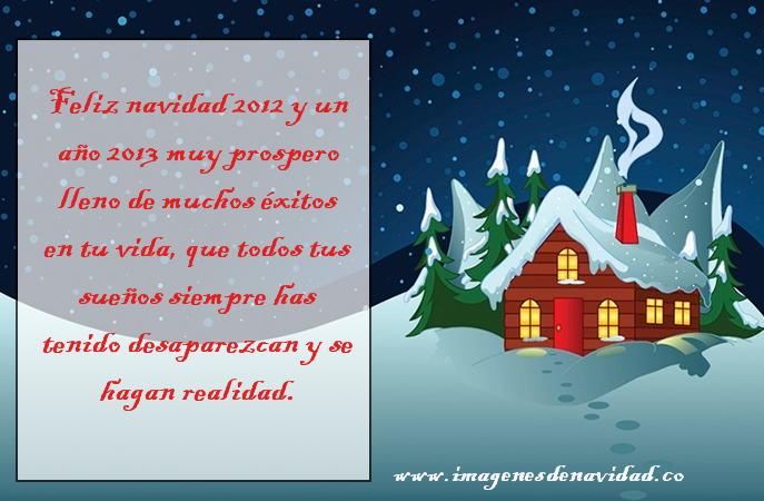 Postal 2012 de feliz navidad y año nuevo, bonita para amigos y familia