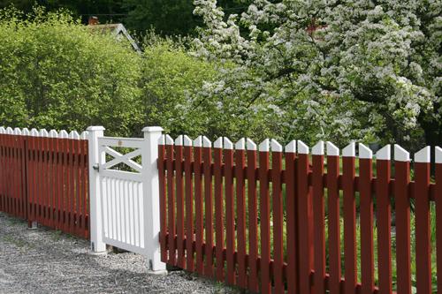 Kärnvirke staket
