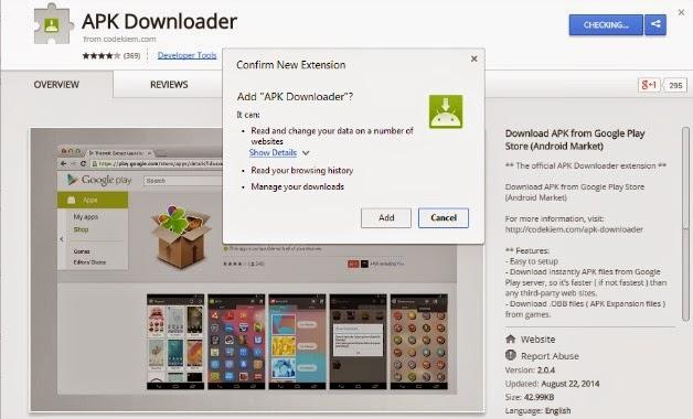 APK Downloader ekstensi