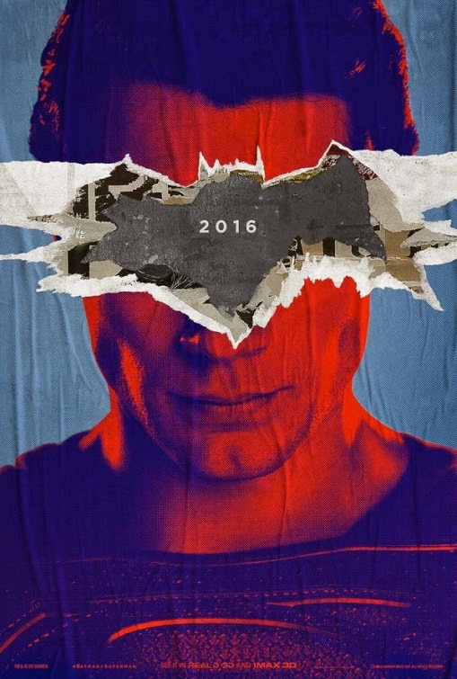 Batman v Superman Dawn of Justice IMAX Teaser Theatrical One Sheet Movie Poster - Superman