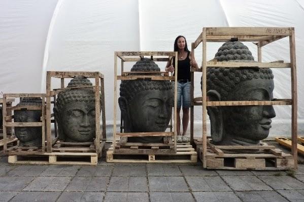 attraktive buddha kopf brunnen in 4 gr en. Black Bedroom Furniture Sets. Home Design Ideas