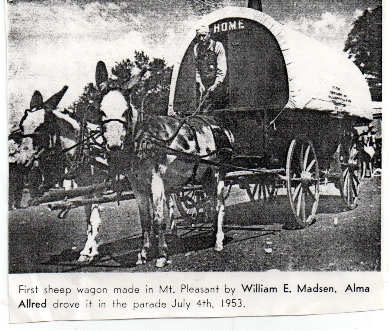 mt pleasant pioneer first sheep wagon made in mt pleasant
