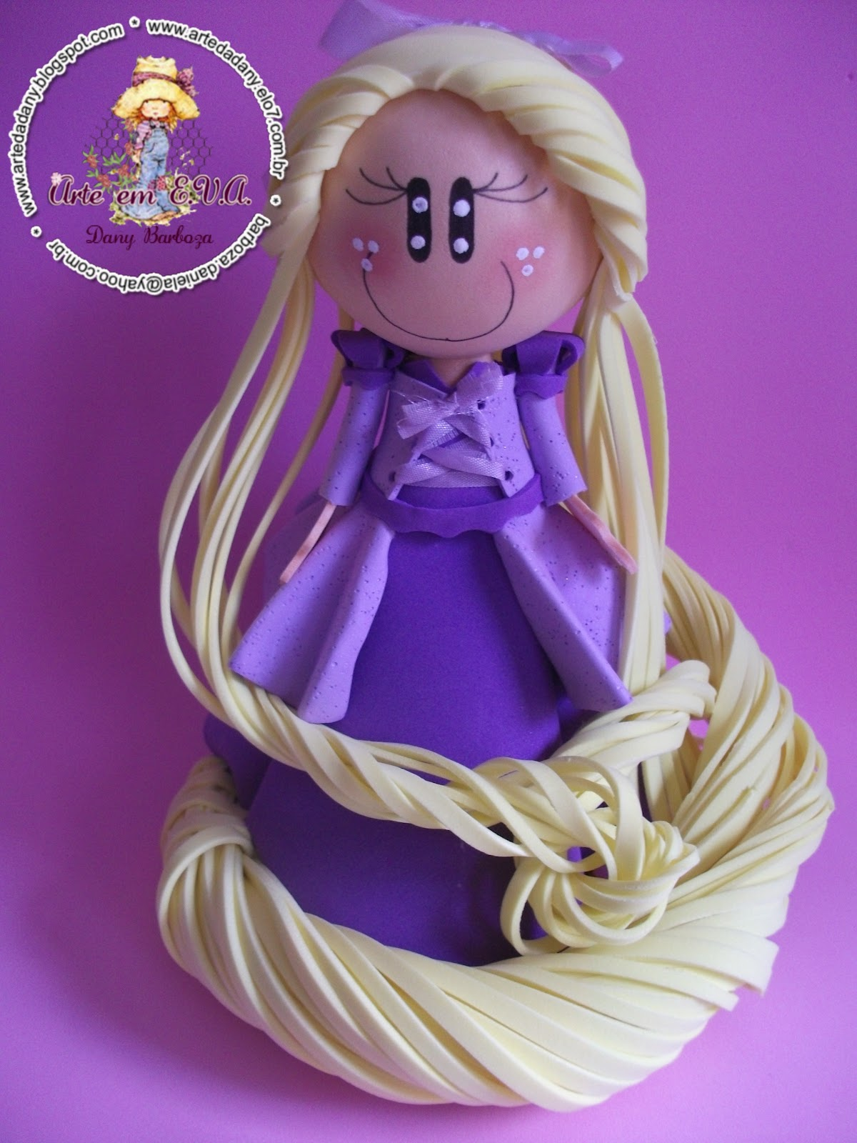 Fofucha Rapunzel E Seus Loooongos Cabelos