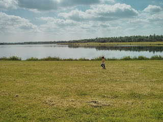 enjoying the freedom and fresh air