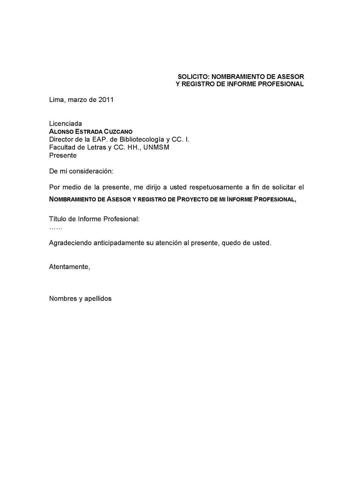 Escuela de Bibliotecología y CC.II. - UNMSM: Prórroga del ...