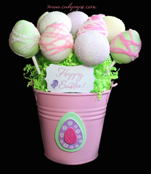 Happy Easter Cake Pop Basket Candys