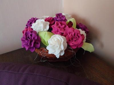 Róże z krepiny DIY
