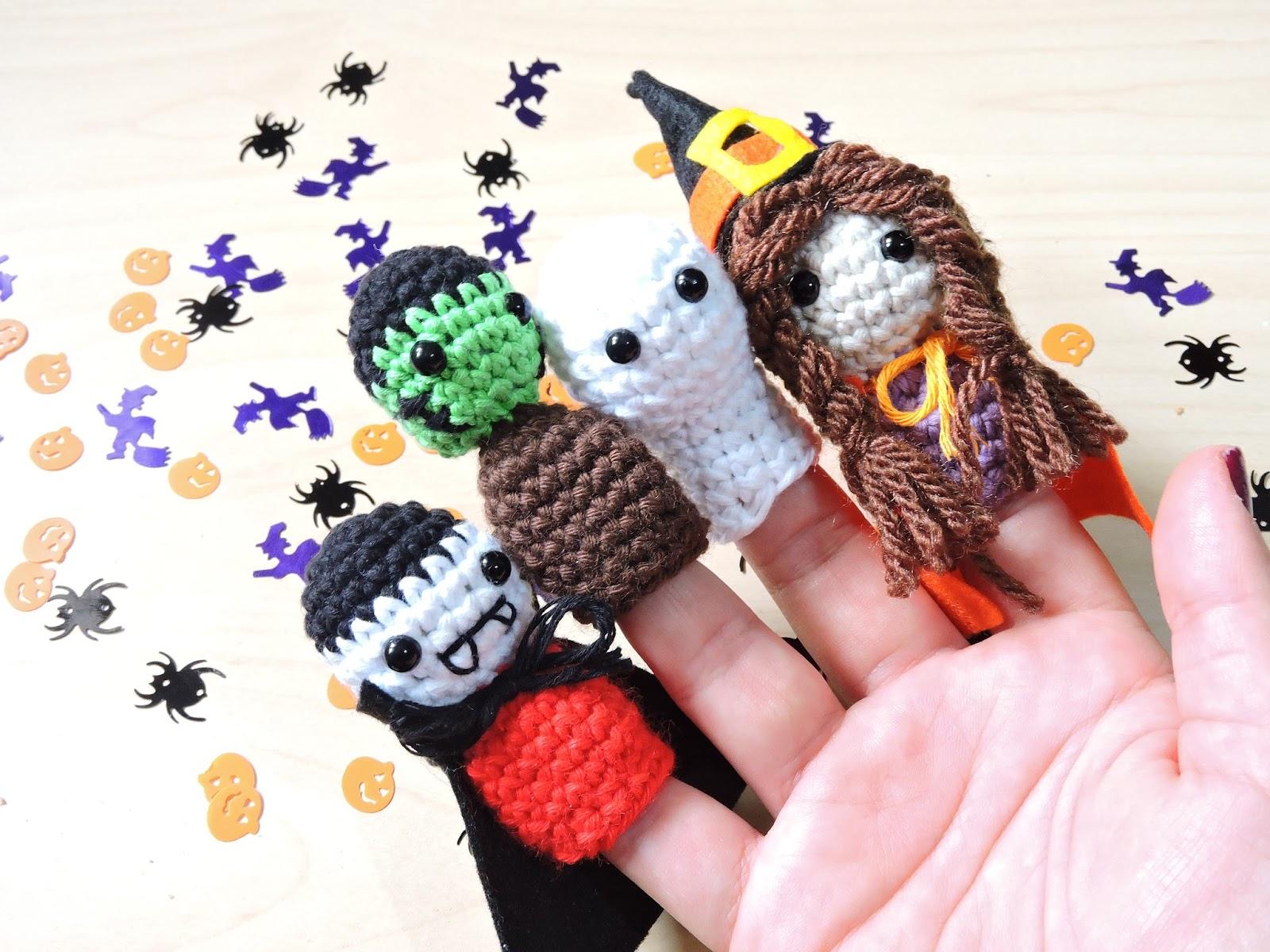 Happy Ganchillo : Amigurumi Halloween - Marionetas de dedo ...