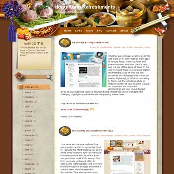 Hong Kong Refreshments Blogger Template. free download template blogspot. download recipes and cooking blogger template free