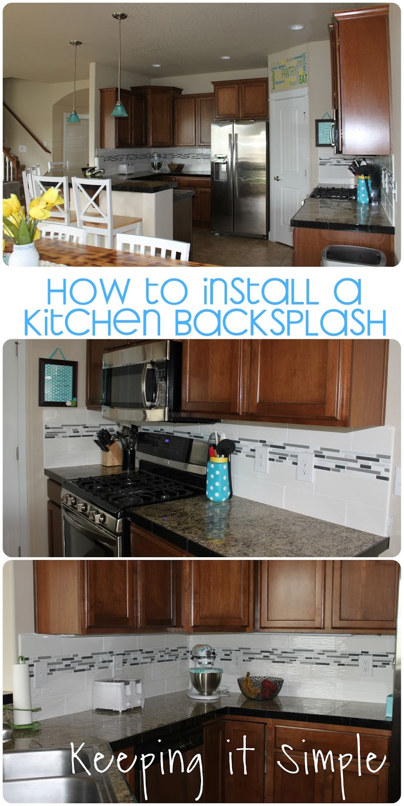 How To Install A Kitchen Back Splash With Wavecrest And Mosaic Tile Using  Sticky Mat