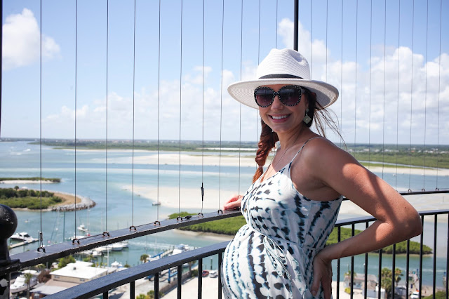Amy West on the top of the Ponce Inlet Lighthouse