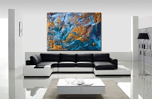 "Abstract Painting ""A Majestic Place"" by Dora Woodrum"