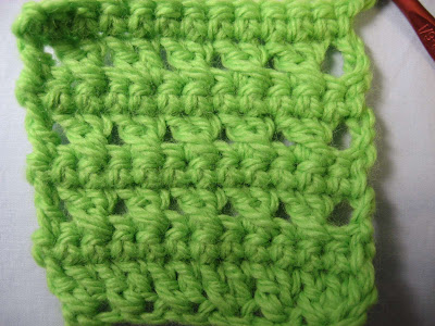 Crossed Double Crochet with no space