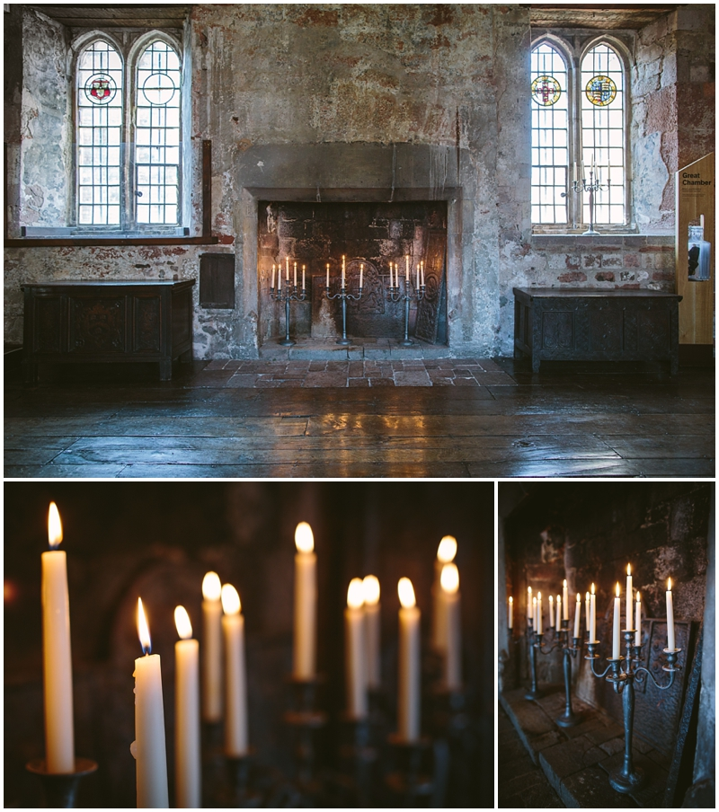 Candles lit in the Great Hall