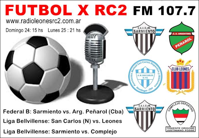 FÚTBOL POR RC2 RADIO LEONES