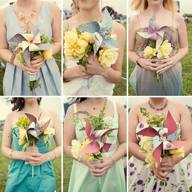 18 Alternatives To Bridesmaids Carrying Floral Bouquets