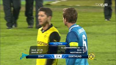 Zenit St-Pétersbourg 2 - 4 Borussia Dortmund