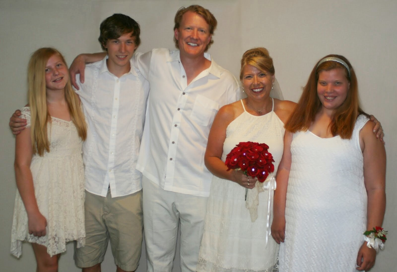 My family, at our 25th Wedding Anniversary, Renewal of Vows ceremony